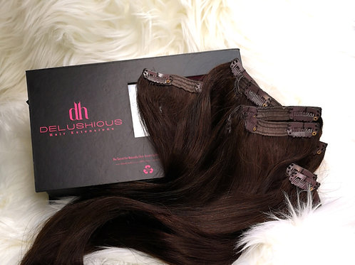 Dark Chocolate 18in Clip-in extensions