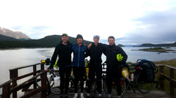 The team at the 'End of the World'