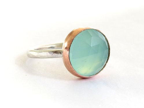 Cushion Chalcedony Ring