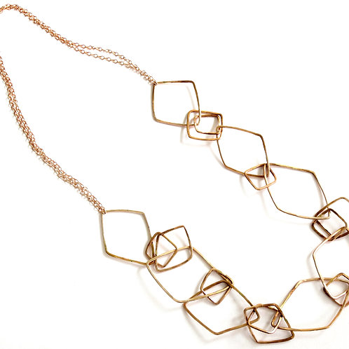 Linked Geo Necklace