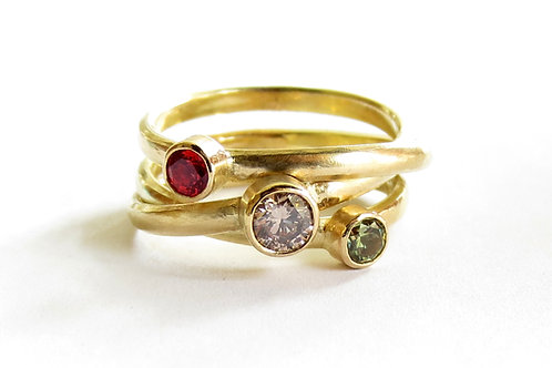 Swirling Stones Ring