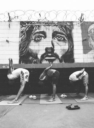 Yoga at prison