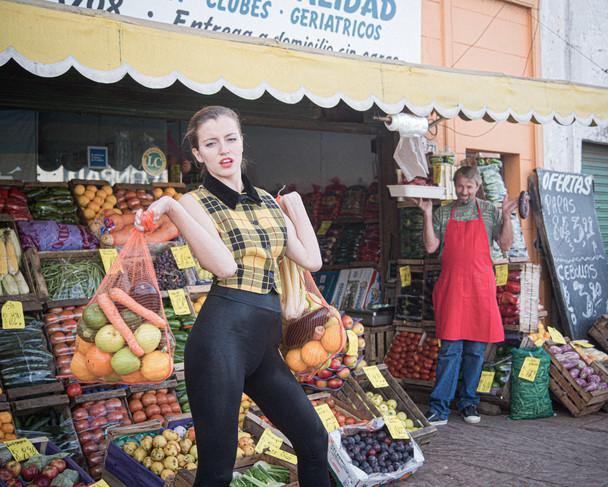 Fruit shopping.