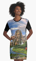 Ancient Sites T-Shirt Dress