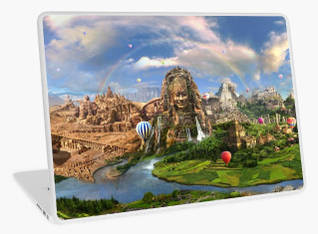 Ancient Sites Laptop Skin