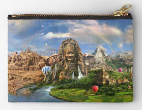 Ancient Sites Zipper Pouch