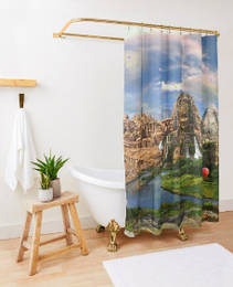 Ancient Sites Shower Curtain