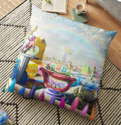 Clown Wasteland Floor Pillow