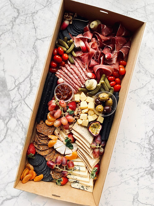 Cheese & charcuterie platter box | up to 15 pp