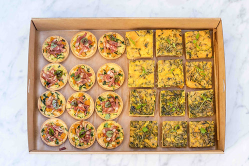 Quiche & Frittata Box | 24 pieces