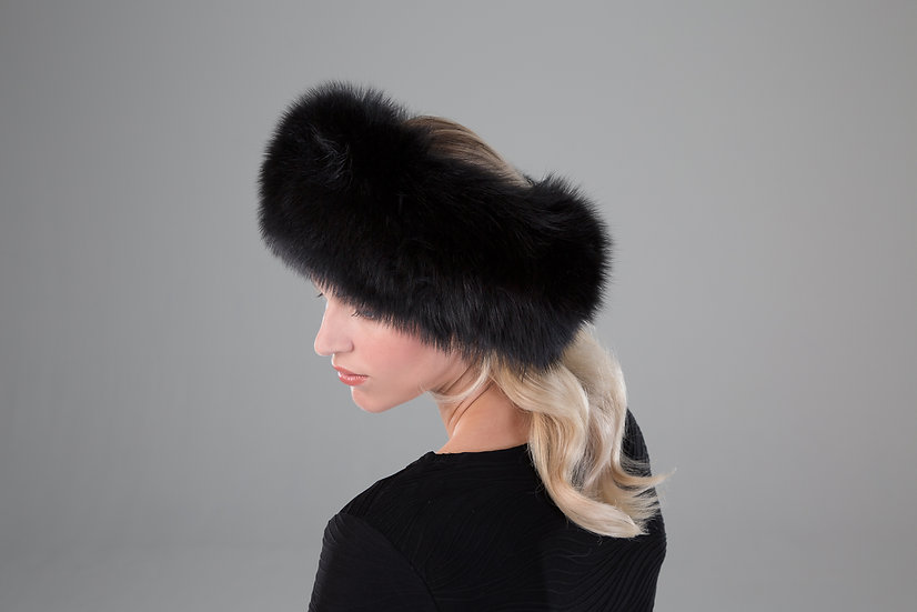 Surell Fox Fur Headband/Scarf