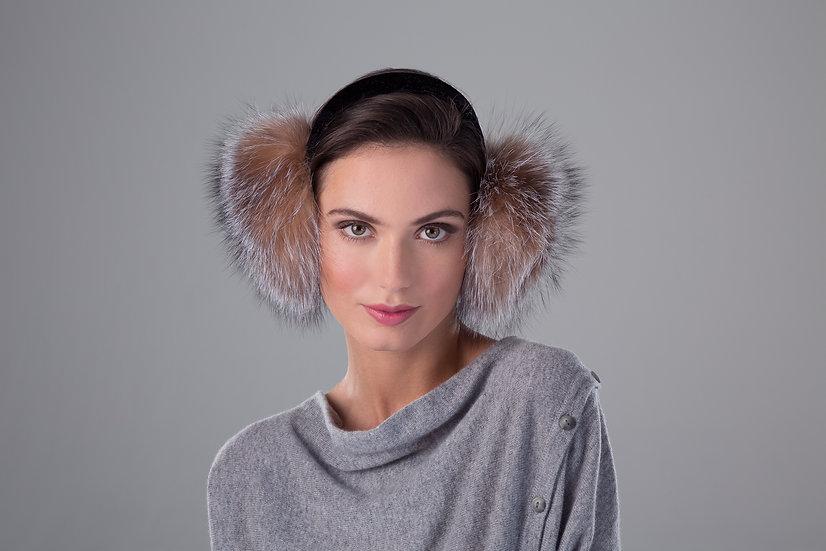 Surell Fox Fur Earmuff with Velvet Band