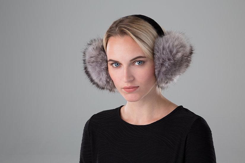 Surell Faux Fox Fur Earmuffs with a Velvet Band