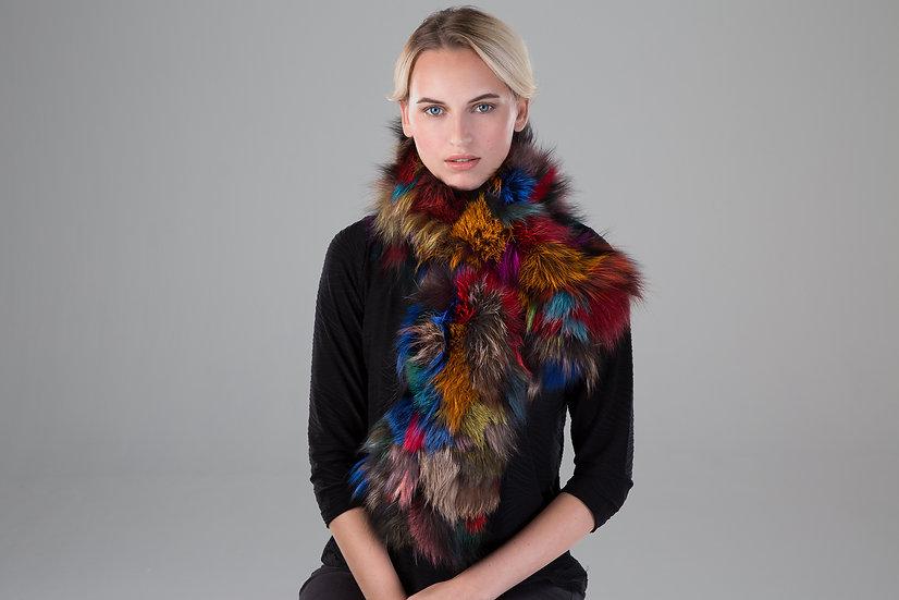 Surell Multi Color Fur Stole
