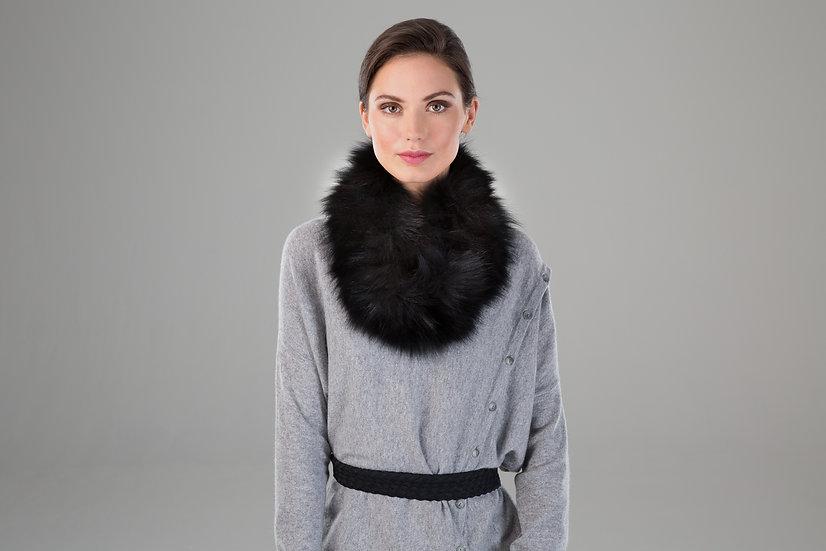Surell Fox Fur Knit Neck Loop
