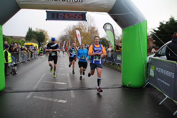 Mike finishing St Neots 1/2