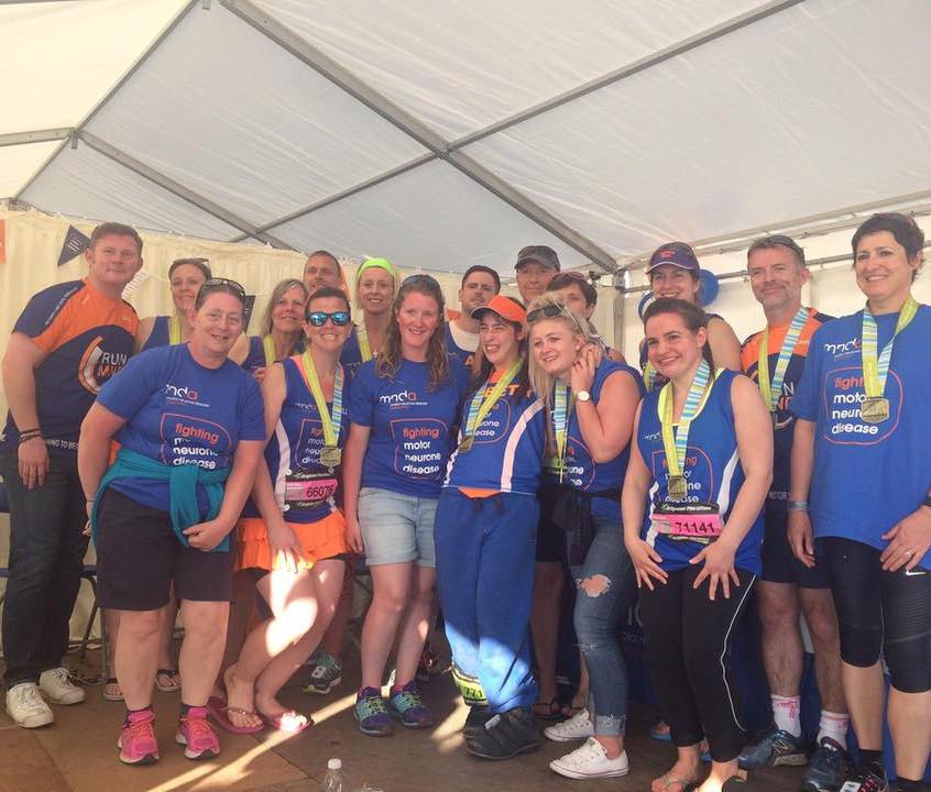 Team MND at tent