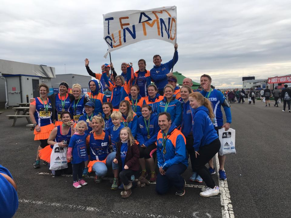 Post-race - some of the MNDA runners