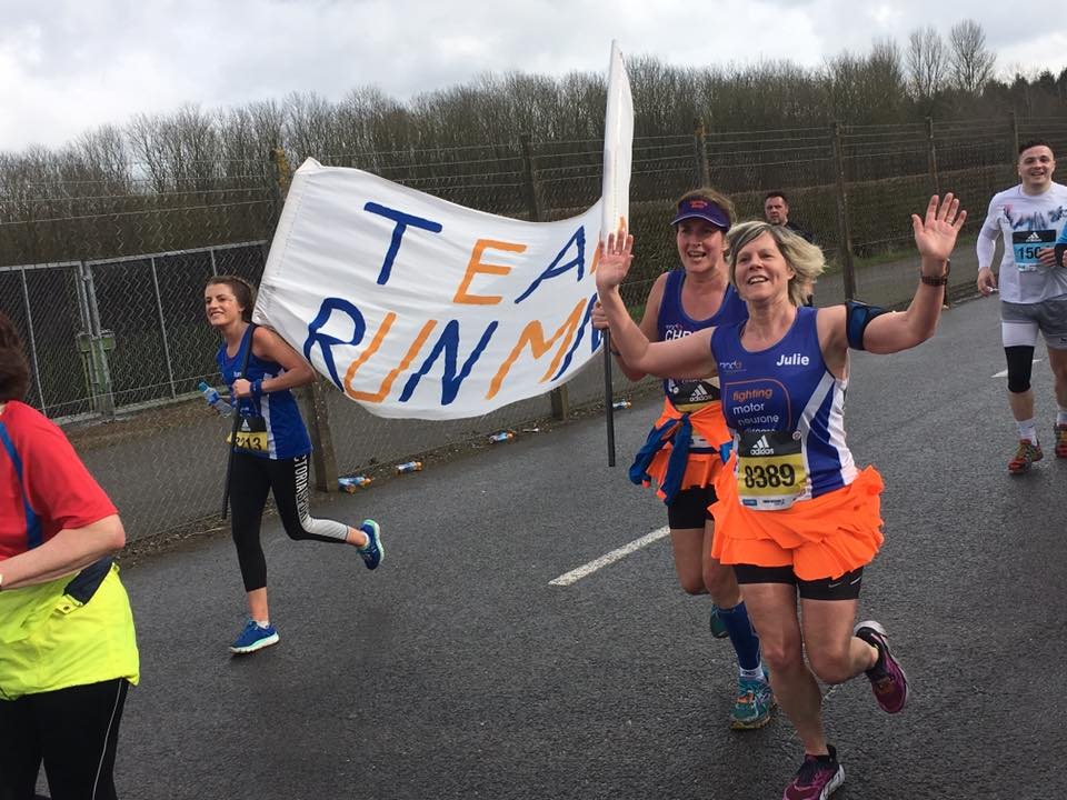 The banner went around the route in a PB time, so the girls were happy.