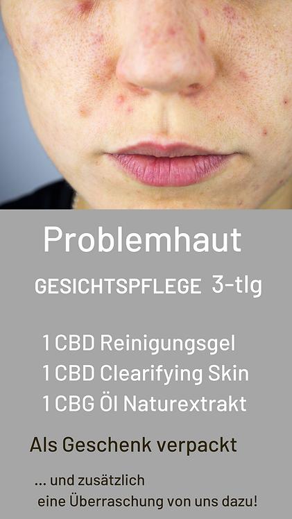 Package für Gesichtspflege - Problemhaut