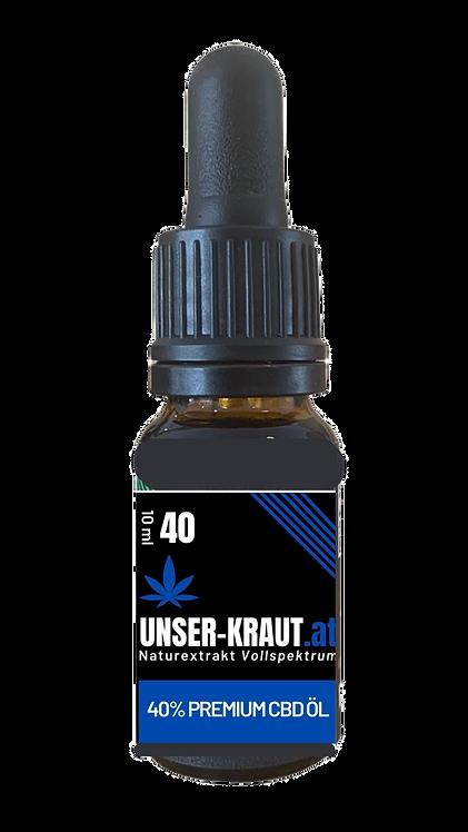 """40% CBD Naturextrakt PREMIUM """"Unser Kraut"""" Vollspektrum"""