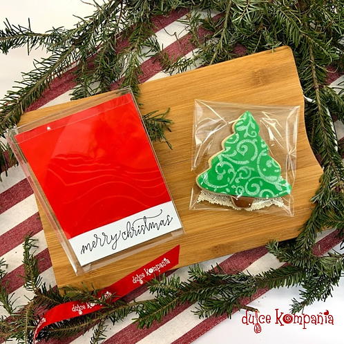 MERRY CHRISTMAS SINGLE COOKIE BOX