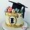 Thumbnail: GRADUATION SILHOUETTE CAKE