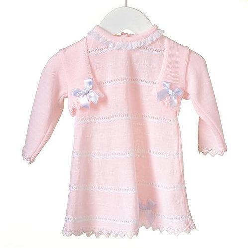 Short Sleeve Knit Dress & Cardigan