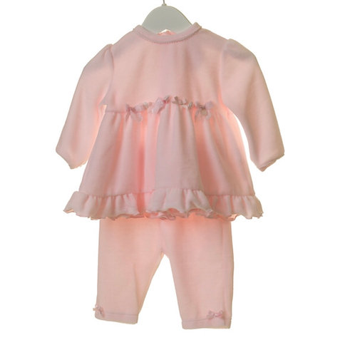 Baby Girl Pink Velour Two Piece