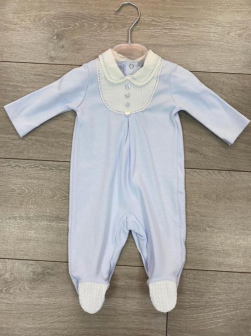 Blue Bib Front Sleepsuit