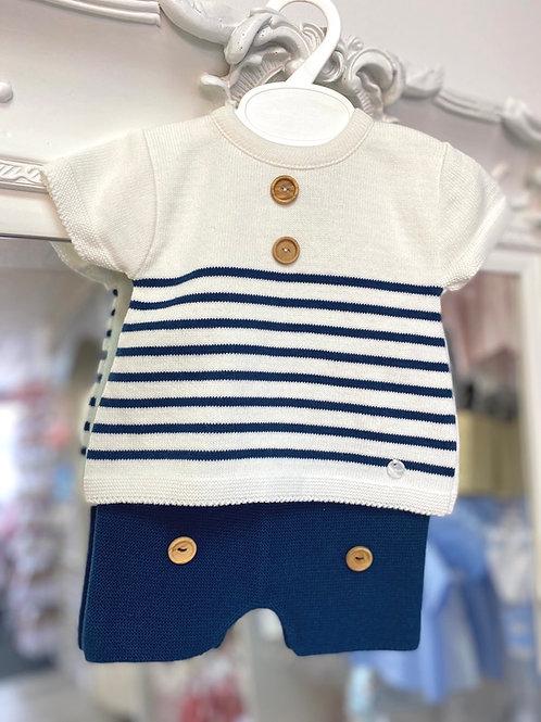 Minhon Stripe Knit Short Set