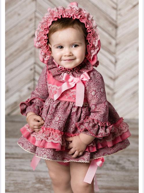 Ricittos Baby Girl Pink Three Piece