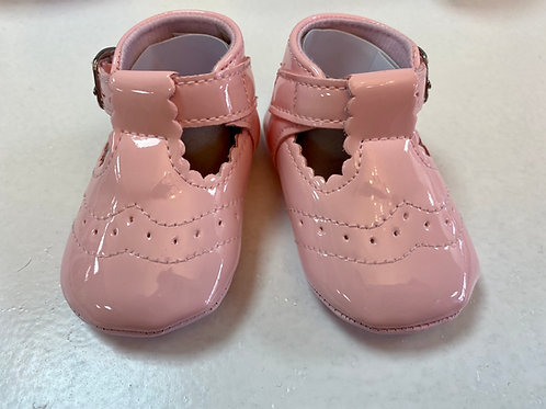 Cassy Pink Soft Sole T-bar Shoes