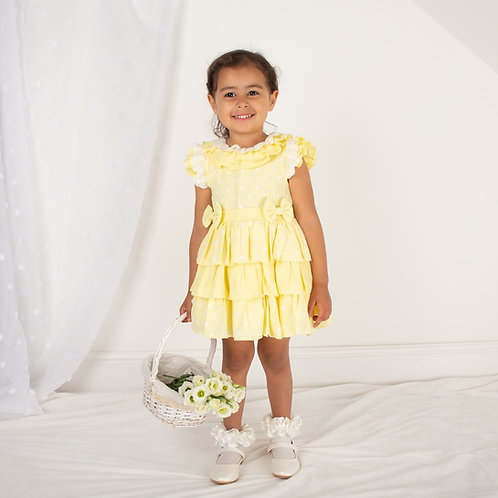 Caramelo Yellow Frill Dress