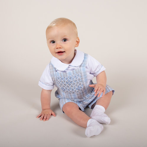 Caramelo Boys Smocked Dungree Set