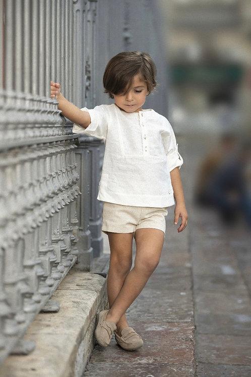 Cocote 'Elegance' Beige Shorts Set