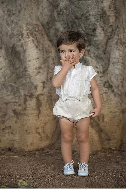 Cocote 'Elegance' Beige Braces Suit