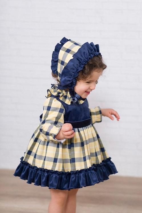 Ricittos Baby Girl Yellow Check Dress
