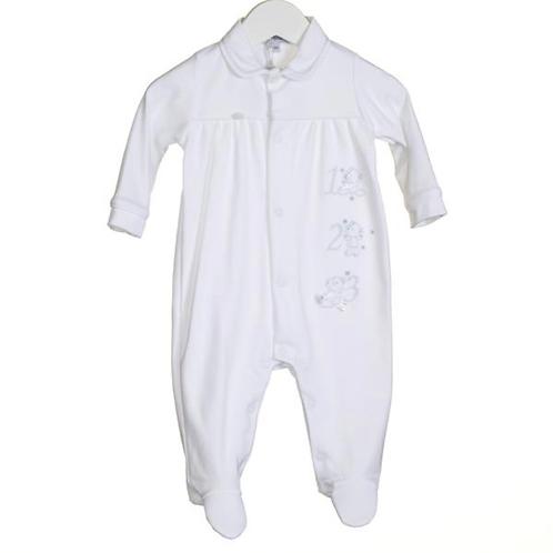 Unisex 123 Embroidery Sleepsuit