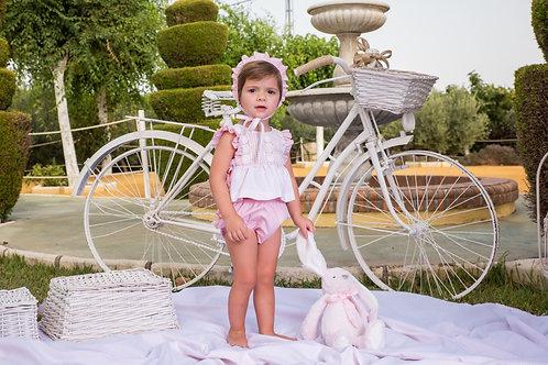 Babine Pink Stripe Short Set