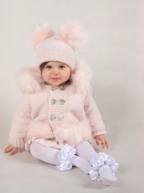 Caramelo Pink Faux Fur Coat
