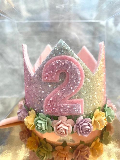 2nd Birthday Rainbow Crown