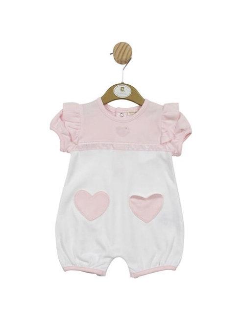 Mintini Pink Heart Romper