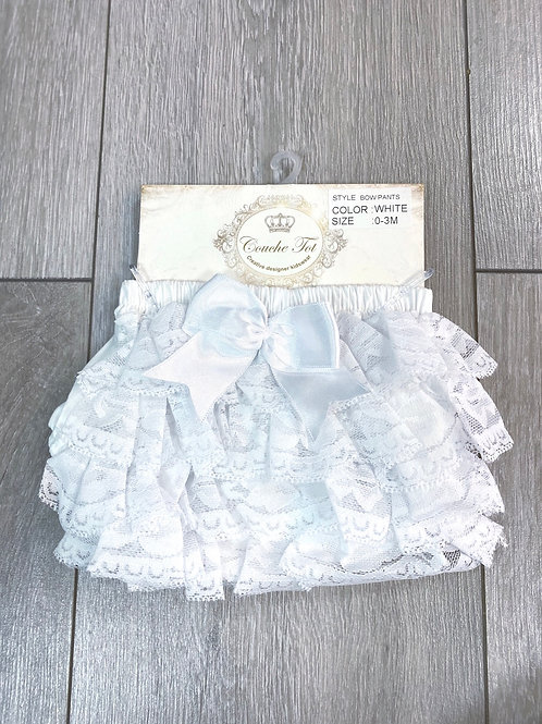 Couche Tot White Frilly Pants