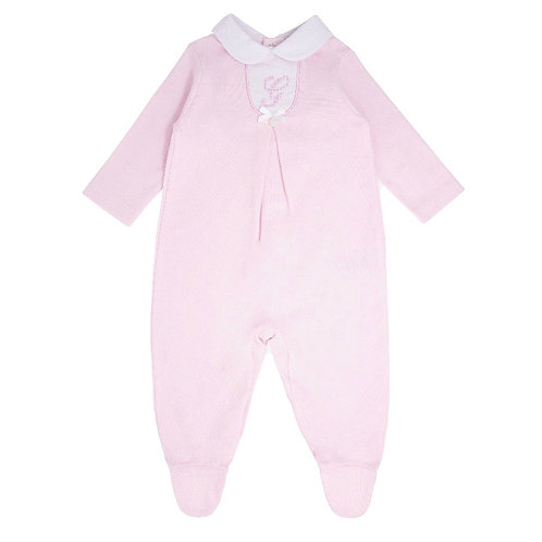 Blues Baby Classic Pink Sleepsuit