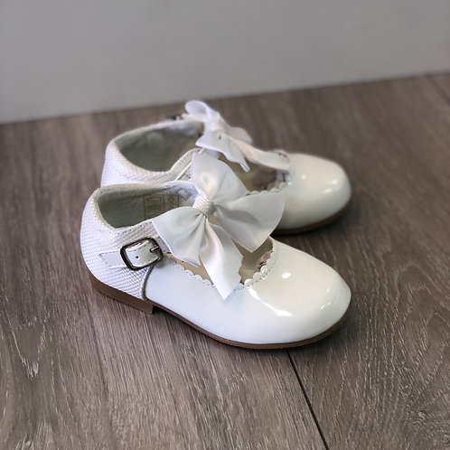 Kristy White Mary Jane Shoes