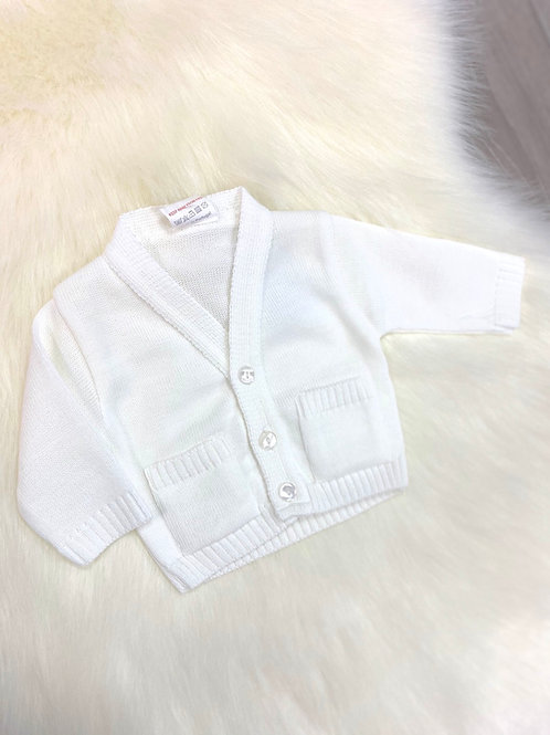Little Nosh White Cardigan