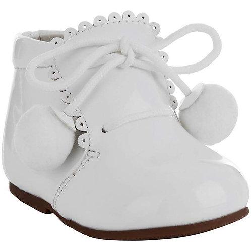 White Pom Pom Shoe