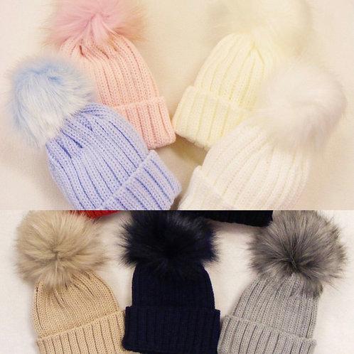 Kinder Single Pom Hats
