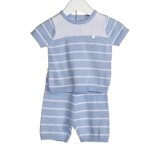 Blue & White Stripe Knit 2pc